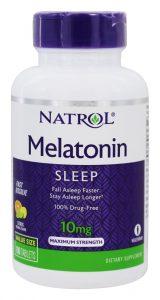 Melatonina Dormir Máximo Força Rápido Dissolver Cítrico 10 mg. - 100 comprimidos de Natrol   Comprar Suplemento em Promoção Site Barato e Bom
