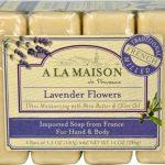 A La Maison Traditional French Milled Hand & Body Bar Soap Lavender Flowers -- 4 Bars   Comprar Suplemento em Promoção Site Barato e Bom