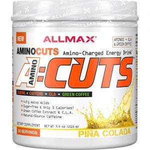 ALLMAX Nutrition A-Cuts™ Amino-Charged Energy Drink Pina Colada -- 30 Servings   Comprar Suplemento em Promoção Site Barato e Bom