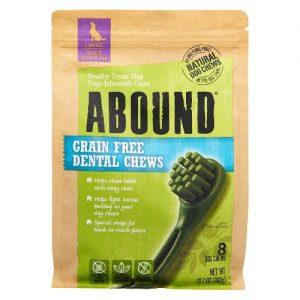 Abound Grain Free Dental Chews Large Dogs 25-100 lbs -- 8 Dog Treats   Comprar Suplemento em Promoção Site Barato e Bom