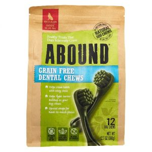 Abound Grain Free Dental Chews Regular Dogs 10-25 lbs -- 12 Dog Treats   Comprar Suplemento em Promoção Site Barato e Bom