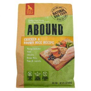 Abound Natural Dog Food Chicken & Brown Rice Recipe -- 4 lb   Comprar Suplemento em Promoção Site Barato e Bom