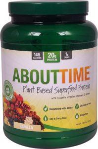 About Time Vegan Plant-Based Superfood Protein Vanilla -- 1.26 lbs   Comprar Suplemento em Promoção Site Barato e Bom