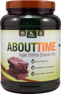 About Time Vegan Protein Brownie Mix -- 1.5 lbs   Comprar Suplemento em Promoção Site Barato e Bom
