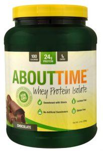 About Time Whey Protein Isolate Chocolate -- 2 lbs   Comprar Suplemento em Promoção Site Barato e Bom