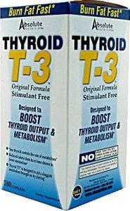 Absolute Nutrition Thyroid T-3™ -- 180 Capsules   Comprar Suplemento em Promoção Site Barato e Bom