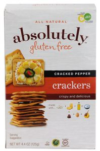 Absolutely Gluten Free All Natural Crackers Cracked Pepper -- 4.4 oz   Comprar Suplemento em Promoção Site Barato e Bom