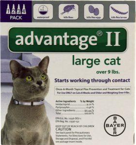 Advantage II Purple 4-Month Flea Control for Large Cats Over 9 lbs -- 4 Tubes   Comprar Suplemento em Promoção Site Barato e Bom