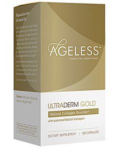 Ageless Foundation UltraDERM Gold™ Collagen Booster -- 60 Capsules   Comprar Suplemento em Promoção Site Barato e Bom