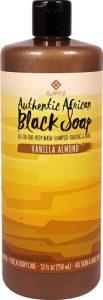 Alaffia Authentic African Black Soap Vanilla Almond -- 32 fl oz   Comprar Suplemento em Promoção Site Barato e Bom