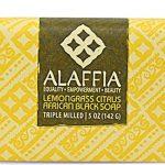 Alaffia Shea Butter African Black Bar Soap Lemongrass Citrus -- 5 oz   Comprar Suplemento em Promoção Site Barato e Bom