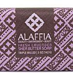 Alaffia Triple Milled Shea Butter Bar Soap Fresh Lavender -- 4 oz   Comprar Suplemento em Promoção Site Barato e Bom