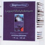 Allergy Research Group Liquid Molybdenum -- 25 mcg - 1 fl oz   Comprar Suplemento em Promoção Site Barato e Bom
