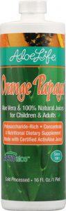 Aloe Life Whole Leaf Aloe Vera Juice Concentrate Orange Papaya -- 16 fl oz   Comprar Suplemento em Promoção Site Barato e Bom