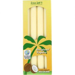 Aloha Bay Dripless Tapers Coconut Wax Blend -- 4 Candles   Comprar Suplemento em Promoção Site Barato e Bom