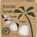 Aloha Bay Palm Wax Tea Lights In Cups Unscented -- 12 Candles   Comprar Suplemento em Promoção Site Barato e Bom