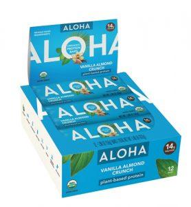 Aloha Organic Protein Bar Vanilla Almond Crunch -- 12 Bars   Comprar Suplemento em Promoção Site Barato e Bom