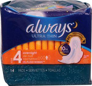 Always Ultra Thin Maxi Overnight -- 14 Pads   Comprar Suplemento em Promoção Site Barato e Bom