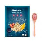 Amara Organic Baby Food Ancient Grain Cereal with Fruit Bites Stage 3 -- 5 Pack   Comprar Suplemento em Promoção Site Barato e Bom