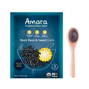 Amara Organic Baby Food Stage 3 Black Bean & Sweet Corn -- 5 Pack   Comprar Suplemento em Promoção Site Barato e Bom