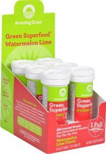 Amazing Grass Green Superfood® Hydrate Effervescent Greens Watermelon Lime -- 6 Tubes 10 Tablets Each   Comprar Suplemento em Promoção Site Barato e Bom