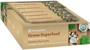 Amazing Grass Green Superfood® Organic Whole Food Nutrition Bars Chocolate Chip Coconut -- 12 Bars   Comprar Suplemento em Promoção Site Barato e Bom