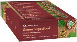 Amazing Grass Green Superfood® Organic Whole Food Nutrition Bars Sweet & Savory Almond -- 12 Bars   Comprar Suplemento em Promoção Site Barato e Bom