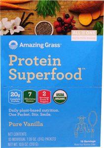 Amazing Grass Protein Superfood Pure Vanilla -- 10 Packets   Comprar Suplemento em Promoção Site Barato e Bom