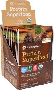 Amazing Grass Protein Superfood Rich Chocolate -- 10 Packets   Comprar Suplemento em Promoção Site Barato e Bom