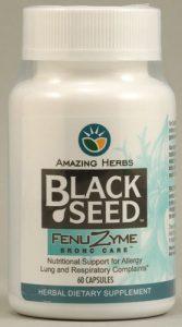 Amazing Herbs Black Seed Fenuzyme Bronc Care™ -- 60 Vegetarian Capsules   Comprar Suplemento em Promoção Site Barato e Bom