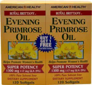 American Health Royal Brittany™ Evening Primrose Oil Twin Pack -- 1300 mg - 120+120 Softgels   Comprar Suplemento em Promoção Site Barato e Bom