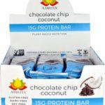 Amrita 15G Protein Bar Gluten Free Chocolate Chip Coconut -- 12 Bars   Comprar Suplemento em Promoção Site Barato e Bom