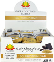 Amrita 15G Protein Bar Gluten Free Dark Chocolate Quinoa -- 12 Bars   Comprar Suplemento em Promoção Site Barato e Bom