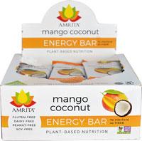 Amrita Energy Bar Gluten Free Mango Coconut -- 12 Bars   Comprar Suplemento em Promoção Site Barato e Bom