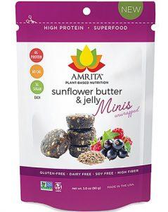 Amrita Minis Gluten Free Unwrapped Sunflower Butter & Jelly -- 3 oz   Comprar Suplemento em Promoção Site Barato e Bom