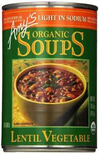 Amy's Organic Soup Light in Sodium Lentil Vegetable -- 14.5 fl oz   Comprar Suplemento em Promoção Site Barato e Bom