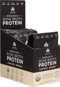 Ancient Nutrition Organic Bone Broth Protein Savory Herbs -- 12 Packets   Comprar Suplemento em Promoção Site Barato e Bom