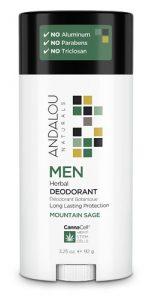 Andalou Naturals MEN Herbal Deodorant Mountain Sage -- 2.65 oz   Comprar Suplemento em Promoção Site Barato e Bom