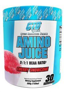 Amino Juice By CTD Sports, Cherry Snowcone, 30 Servings   Comprar Suplemento em Promoção Site Barato e Bom
