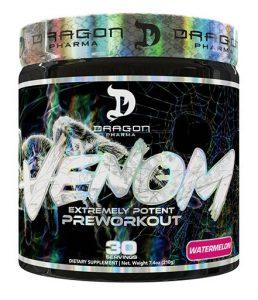 Venom Pre Workout By Dragon Pharma, Watermelon, 30 Servings   Comprar Suplemento em Promoção Site Barato e Bom