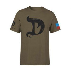 Dragon Pharma T-Shirt, Large, Military Grey   Comprar Suplemento em Promoção Site Barato e Bom