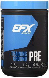 EFX Pre Workout, Training Ground Pre, Blueberry, 20 Servings   Comprar Suplemento em Promoção Site Barato e Bom