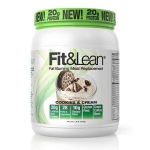 Fit and Lean Meal Replacement, Cookies and Cream, 1LB   Comprar Suplemento em Promoção Site Barato e Bom