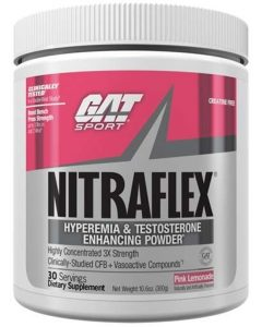 Nitraflex By GAT, Pre Workout, Pink Lemonade, 300 Grams   Comprar Suplemento em Promoção Site Barato e Bom