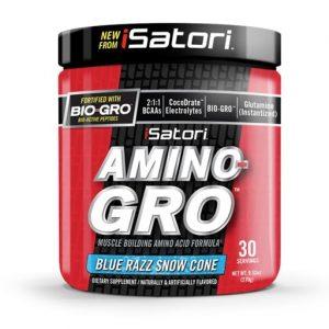 Amino Gro By Isatori, Blue Razz Snowcone, 30 Servings   Comprar Suplemento em Promoção Site Barato e Bom