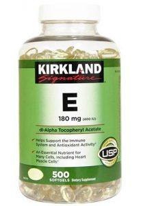 Kirkland Vitamin E, 180 mg, 500 Softgels   Comprar Suplemento em Promoção Site Barato e Bom
