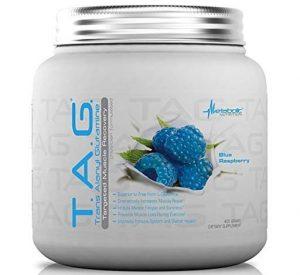 TAG Glutamine By Metabolic Nutrition, Blue Raspberry, 400 Grams   Comprar Suplemento em Promoção Site Barato e Bom