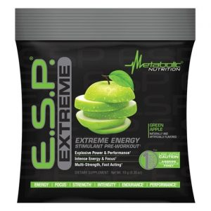 ESP Extreme Pre Workout By Metabolic Nutrition, Green Apple, Sample Packet   Comprar Suplemento em Promoção Site Barato e Bom