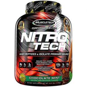 Nitro-Tech, Performance Series, By MuscleTech, Chocolate Mint, 4lb   Comprar Suplemento em Promoção Site Barato e Bom