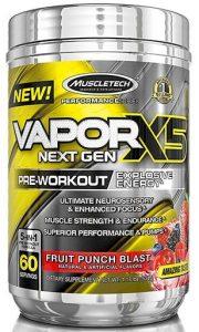 Vapor X5 Next Gen Pre Workout By MuscleTech, Fruit Punch Blast, 60 Servings   Comprar Suplemento em Promoção Site Barato e Bom